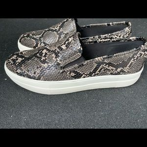 Black snake skin sneakers